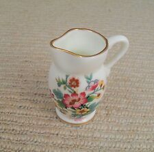 Coalport Ming Rose Bone China Miniature Jug for Display. Perfect Condition