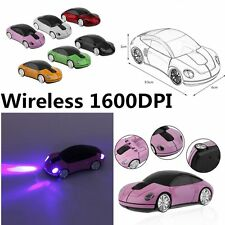 Creative 2.4GHZ Wireless Car Shape Mouse 1600DPI Wireless Optical Mouse Mice XP