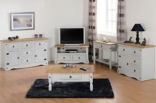 CORONA FURNITURE GREY WAXED PINE CONSOLE TABLE/ COFFEE TABLE/ TV UNIT/SIDEBOARDS