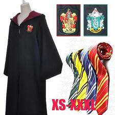 Harry Potter Adult / Child Robe + Tie Cosplay Costume Gryffindor/Slytherin Cloak
