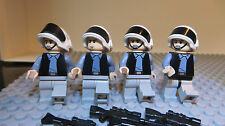 REAL LEGO,STAR WARS FIGURE, 4 REBEL SCOUT TROOPERS, REBEL ARMY SOLDIERS  Lot 52