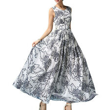 Plus Size Women Chiffon Summer Beach Party Floral Long Maxi Evening Prom Dresses