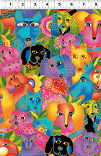 LAUREL BURCH ***DOGS & DOGGIES***  Y1798-56M ~ ONE YARD!