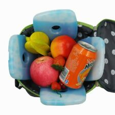 4pcs Ice Pack box cooler Reusable Lunch Box Freezer Cold Bags, Non-Toxic & safe