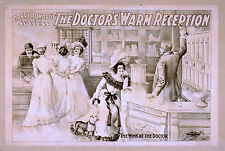 Photo Print Vintage Poster: Stage Theatre Flyer The Doctors Warm Reception 01