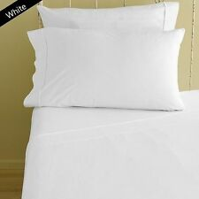 1000TC  EGYPTIAN COTTON SHEET SET/FITTED/FLAT/ PILLOW CASE WHITE SELECT SIZE,