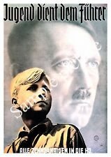 Youth serves the leader :  Vintage German wartime Poster reproduction.