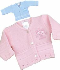 BabyPrem Baby Clothes Premature PREEMIE Tiny Pink & Blue Knitted Cardigan 3-8lb
