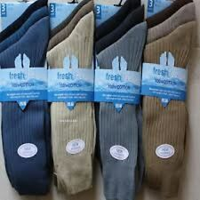 Mens Socks cotton From size 6 to 11 FRESH FEEL 6 Pairs12 pairs good 4 winter