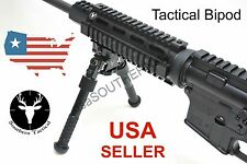 Rail Mount Adjustable Tactical Rifle Bipod 6.5 to 9.5 inch fits Picatinny Rail