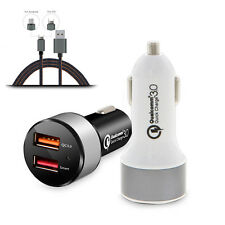 Car Charger Quick Charge 3.0 Dual USB Port Power Adapter For Smart Mobile Phones