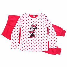 Warm & Soft White/Red Pyjama Set For Girls MINNIE MOUSE Disney