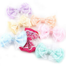 50-100PCS DIY Satin Ribbon Organza Lace Bow Appliques/Craft/Wedding Decoration