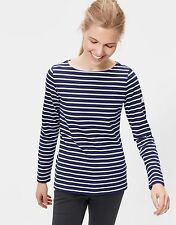 NEW JOULES HARBOUR (W) HOPE STRIPE FRENCH NAVY LAYERING TOP SUMMER FREE P&P BNWT
