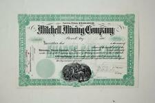 Mexican Stock Cert. - MITCHELL MINING CO. -  1906 (Chilpancingo)