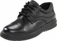 Hush Puppies GLEN Mens Black Leather Comfort Casual Oxfords Shoes