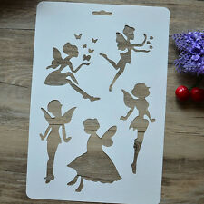 DIY Craft Angel Wizard Stencils Scrapbooking Walls Painting Cut Templates cn
