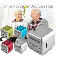 Portable Micro SD TF USB Mini Stereo Speaker Music Player PC MP3/4 FM Radio LoDP