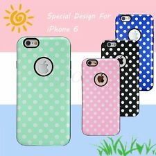 Polka-dot Skin Hybrid Hard TPU Cover Soft Rubber Case For Apple iPhone 6s 6 4.7""