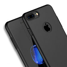 Shockproof 360° Thin Matte Hard Back Case Cover For Apple iPhone SE 6S 7 Plus