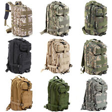 NEW30L Hiking Camping Bag Army Military Tactical Trekking Rucksack Backpack Camo