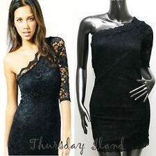 Sexy off shoulder Floral Mesh Club Party costume wear fitted dress Sz M L