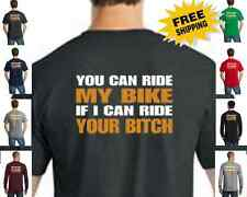 Biker You Can Ride Bike Classic Motorcycle Custom Chopper New Mens T Shirt