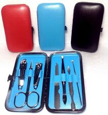 Men Women 7Pc Pedicure Manicure Set Stainless Nail Clippers Cuticle Grooming Kit