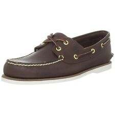 Timberland Men Casual Shoes Classic Two Eye Boat Shoes Dark Brown