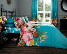 New Luxury Floral Duvet Quilt Cover With Pillow Cases Bed Set Single Double King