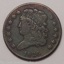 1826 Classic Head Half Cent Old Copper US Coin NR FREE SHIP SB501