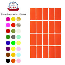 Rectangular Color Coding Labels 40 mm x 19 mm Small Quality Stickers 100 Pack