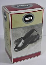 NOS TOTES GEOMETRIC MENS NATURAL RUBBER LOAFER STYLE OVERSHOES RAIN SHOE USA