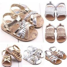 0-12M Infant Baby Gold Shiny Sandals Princess Soft Sole Girl Kids Shoes Summer