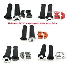 """7/8"""" Aluminum Rubber Hand Grips for Yamaha R1 R6 MT-09/07 BMW S1000RR 2016 2017"""