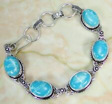 Treated Larimar & 925 Silver Handmade Fashionable Bracelet 215mm KD-10001