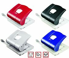 2 Hole Desk Paper Punch 25 Sheets 4 Colours Metal Perforator Stationery School