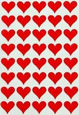 Heart Labels For DIY Projects Crafts Art Permanent Adhesive Stickers 400 Pack