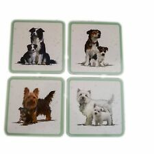 Pet Dog Coaster Collectable 4 Choices Collie Jack Russell Westie Terrier 10.5cm
