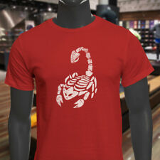 SCORPIO SKULL SCORPION ZODIAC HOROSCOPE ASTROLOGY Mens Red T-Shirt