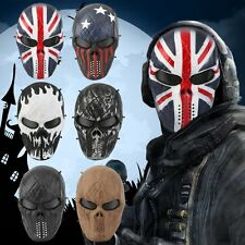 Airsoft Paintball Tactical Full Face Protection Skull Mask Skeleton Army OutdoDP