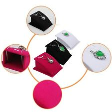 Hot Velvet Jewelry Necklace Pendant Drop Chain Display Holder Standing Stands DP