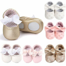 Cute Baby Girls Shoes Infant Toddler Pre Walker Shoes Soft Sole Leather Shoes