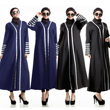 New Style Long Sleeve Maxi dress Muslim Abaya Islamic Kaftan Lady Cocktail dress