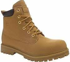 Fila Edgewater Mens Work Boots Faux Suede Tan New in Box