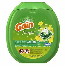 Gain Flings Original Laundry Detergent Pacs, 81 Count, New