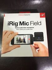 IK Multimedia iRig Mic Stereo Digital Field Recording iOS Microphone Mic NEW!