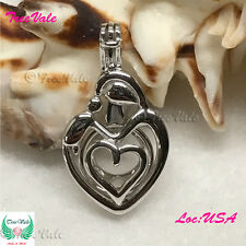 Mother Child Pearl Cage Pendant optionals STERLING SILVER CHAIN Akoya Oyster