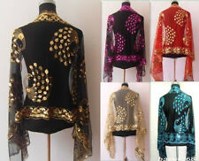 2017 New Chinese Lady Women Beaded Sequin Shawl/Scarf Wraps Peacock&Flower