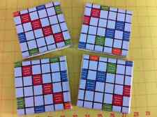 Up-Cycled SCRABBLE or MONOPOLY COASTERS- set of 4 hand made, OOAK tile & board